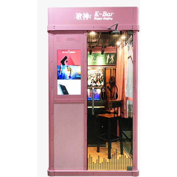 karaoke Ktv booth(including Ad.screen) pink color